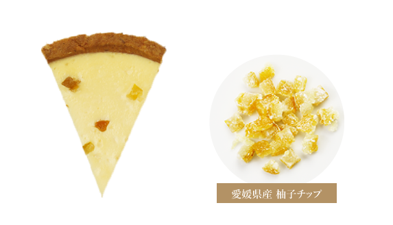 サワークリームとレモンと愛媛産柚子を効かせたクラシックチーズケーキ